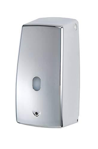 WENKO Infrarot Seifenspender Treviso Chrom 650 ml - automatischer Flüssigseifen-Spender Fassungsvermögen: 0.65 l, Kunststoff, 11 x 22.5 x 10.5 cm, Chrom