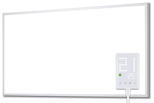 Heidenfeld Infrarotheizung HF-HP100 1000 Watt Weiß - inkl. Thermostat - 10 Jahre Garantie - Deutsche Qualitätsmarke - TÜV GS - 1000 Watt - 15 - 25 m² (HF-HP100 1000 Watt)