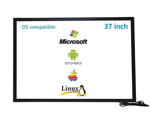 Deyowo 37 Zoll Infrarot-Touchscreen-Rahmen, IR-Touchscreen-Overlay, Touchscreen-Panel, kostenloser Treiber für interaktives Whiteboard, Touch-LCD-Monitor TV