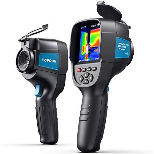 TOPDON Infrarot-Wärmebildkamera Thermografiekamera 220x160 Auflösung 300.000 Messpunkte –20 °C bis +450 °C(-4°F bis +842°F) Genauigkeit von ±2 °C Thermische Empfindlichkeit 0.07 °C aufladbar Akku ink.