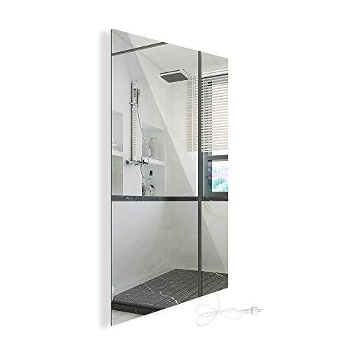 450W Infrarotheizung Spiegelheizung mit Ein-/Ausschalter Spiegel Heizung Infrarot Wandheizung Heizplatte Heizpaneel Elektrisch Energieeinsparend Carbon Crystal
