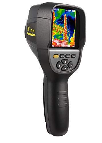Neue Infrarot-Wärmebildkamera mit einer höheren Auflösung von 320 x 240 IR. Modell HT-19 mit verbesserten 300.000 Pixeln, scharfem 3,2-Zoll-Farbdisplay, Batterie im Lieferumfang enthalten.