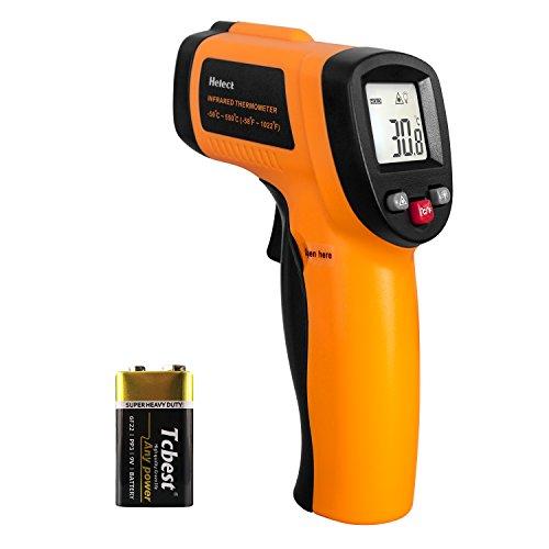 Helect (Nicht für Menschen) Digitale Laser Infrarot Thermometer Pyrometer (-50°C bis 550°C) mit LCD Beleuchtung