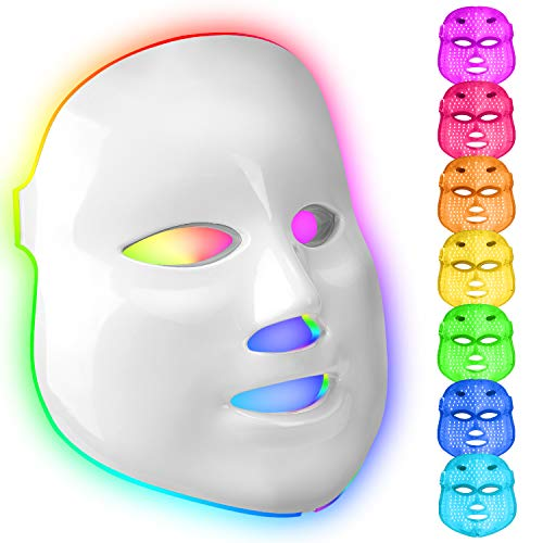 obqo LED Gesichtsmaske Licht Therapie Hautrevitalisierung LED Maske Lichttherapie Maske