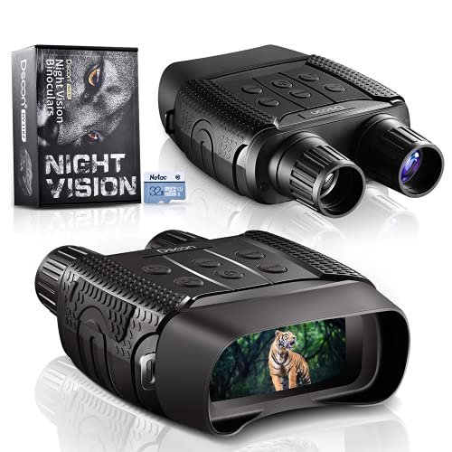 Dsoon Night Vision, Nachtsichtgerät, Digitale Nachtsichtbrille Infrarot-Fernglaskamera 2,31' TFT HD LCD, 960P Video, 4X Digitalzoom zum Aufspüren, Jagen, 32G TF-Karte