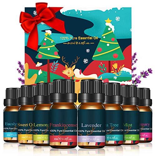 Janolia Ätherisches Öl Set, Duftöl Geschenkset, Pur und Natürlich Essential Oils für Diffuser, Zuhause, Büro, Spa